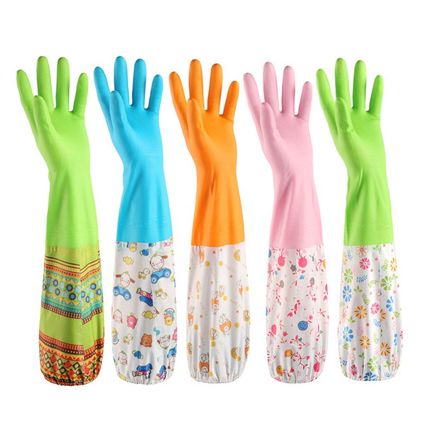 Durable Thickening Gloves Beam Mouth Design Plus Velvet Waterproof Glove Non Slip Decontamination Clean Tools Top Quality 4 4sy B