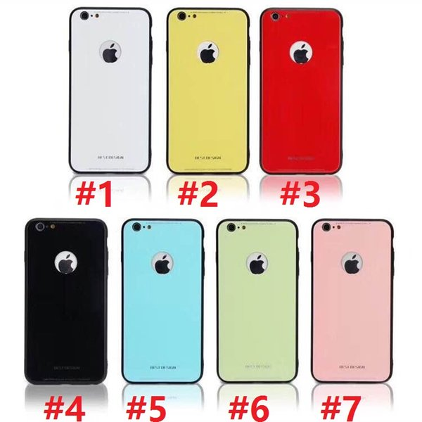 New For iPhone X 8 Plus Ultra Thin Tempered Glass Back Phone Cases Cover Gel Bumper Original Color Shockproof For iPhone 6 7 SCA378