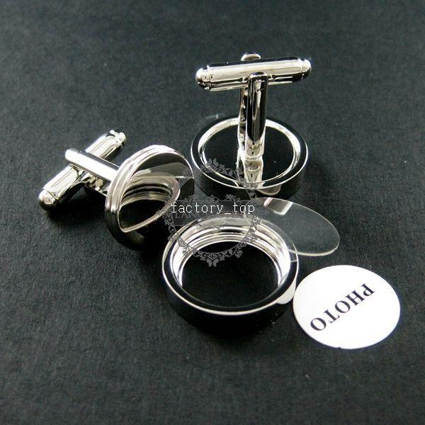 14mm round silver bezels base tray photo frame brass cuff links,custom photo cufflinks,wedding cuff link blanks supplies 1500043