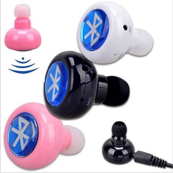 Wholesale-Fancy Wireless Stereo In Ear Bluetooth Earphone Headphone Earbud Handsfree For  iPad Iphone  Smart Phone Free Shipping