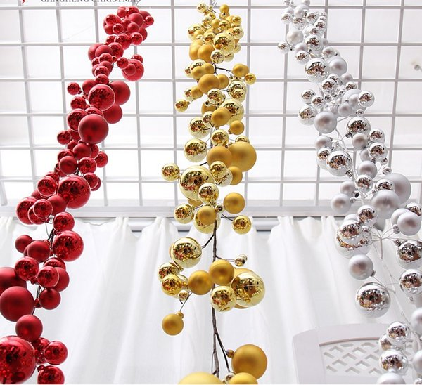 1 8meters Gold Red Silver Ball Suspension Ornament Strap Garland Christmas Tree Holiday Venue Decoration Cheap Christmas Decorations Cheap Christmas