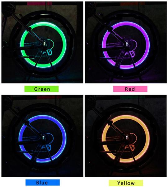 top popular LED Flash Tyre Light Valve Cap Light Bike Bicycle Motorcycle Car Wheel Light 2pcs=1lot Per Retial Package LED Tyre Lights 2505006 2019