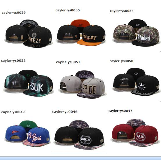 top popular Free Shipping By DHL Or EMS New Design Snapback Hats Cap Cayler & Sons Snapbacks Snap back Baseball Sports Caps Hat Adjustable High Quality 2019
