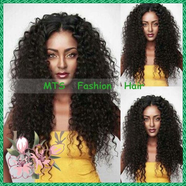 Malaysian Kinky Curly Human Hair Lace Front Wig Virgin Hair Natural Glueless Full Lace Wigs Baby Hairs Around