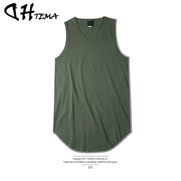 Großhandels-DHTEMA Marke Männer T-Shirts Sommer Baumwolle Slim Fit Männer Tank Tops Kleidung Bodybuilding Unterhemd Fitness Tops Tees 2017 Neu
