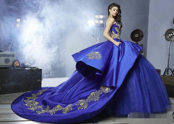Vestidos De Famosas 2017 Azul Royal Bordado Cristais Vestido De Baile Quinceanera Vestidos Baratos Vestidos De Festa Sweet 16 Vestidos De 15 Anos
