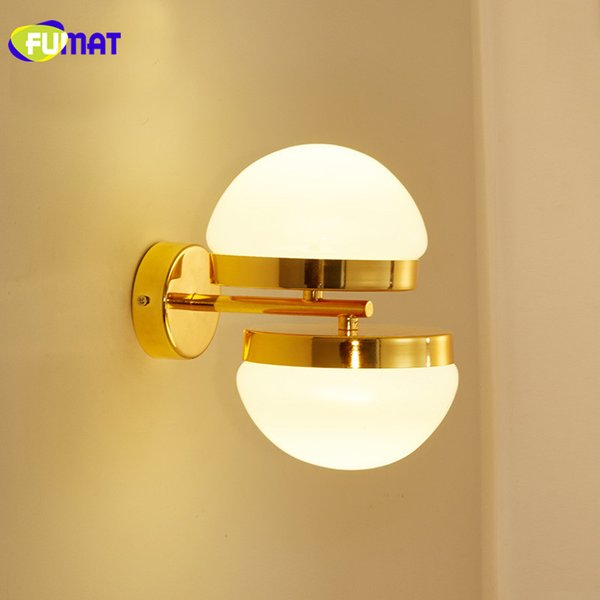 2018 Gold Bedroom Wall Light Modern Led Bathroom Lamp Fixtures Gold Wall Sconce Living Room Stairs Glass Wall Lamps From Goods520 166 84