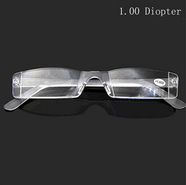 best selling Lightweight Transparent color Rimless Resin Magnifying Reading Glasses +1.0 +1.5 +2.0 +2.5 +3.0 +3.5 +4.0 Presbyopic Glasses Free Shipping