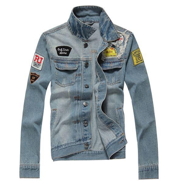 beaucoup de styles aliexpress design de qualité Fall Bomber Denim Jacket Men Jean Veste Doudoune Manteau Homme Mens Jackets  And Coats Ceket Erkek Mont Veste Jaqueta Jeans Masculina Leather Coats ...