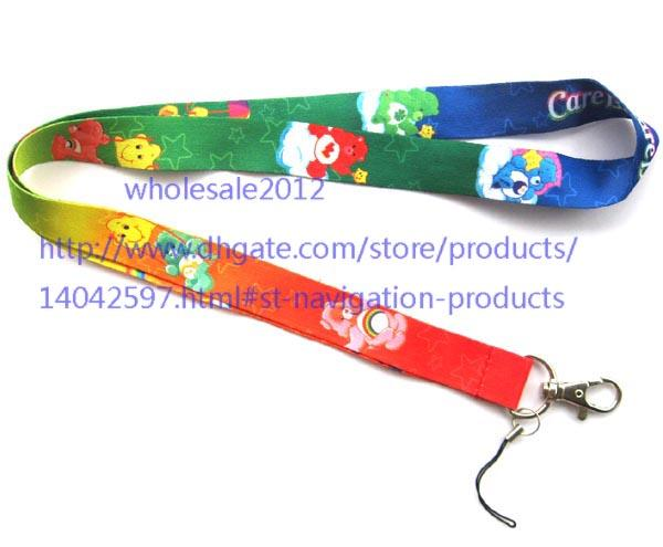 Wholesale 10pcs bear Lanyard with Lobster Clasp Fit Key ID Mobile Cell Phone Key chain
