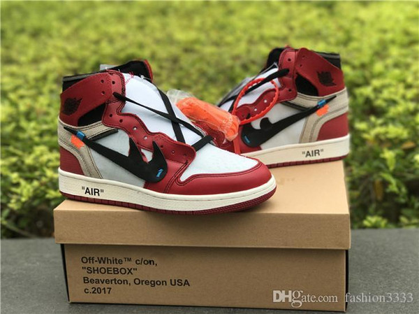 premium selection 68fd6 b15ae 2019 AIR RETRO 1 X OFF WHITE CHICAGO X OFF WHITE MAN BASKETBALL SHOES  SNEAKERS RED WHITE BASKETBALL SNEAKER JIONT LIMITED SHOES SIZE 5 13 From ...