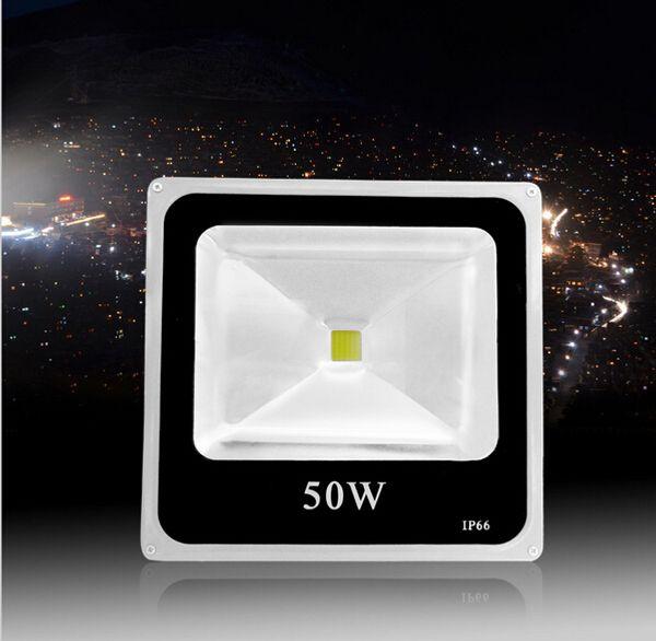 Бесплатная доставка 50 Вт AC 85-265V светодиодный прожектор водонепроницаемый светодиодный прожектор наружная лампа 4 шт. / лот