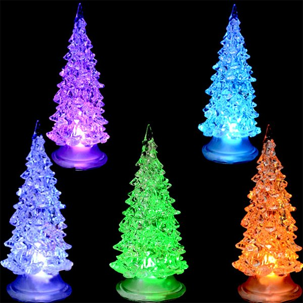 5pcslot crystal new year christmas tree night lamp christmas decoration gift led - Christmas Decor Catalogs Free
