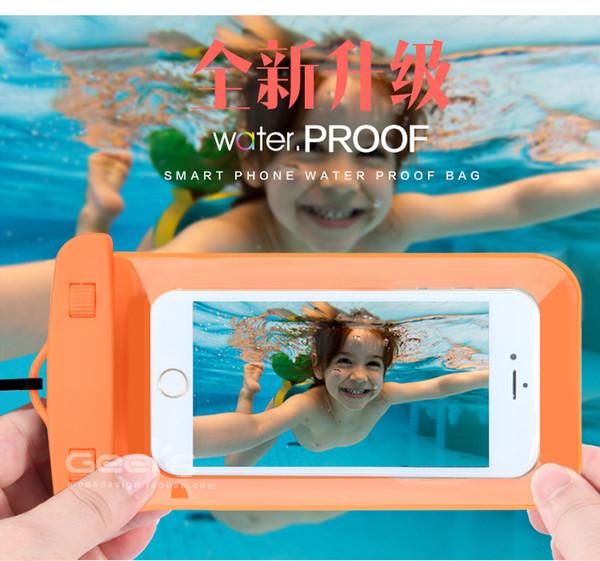 5.7 дюймов водонепроницаемый ПВХ дайвинг сумка подводный чехол для Samsung galaxy s5 для Samsung galaxy note 3 2 s4 подходит для s6/s6 edge 100+5free