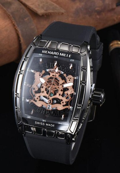 luxury Big Bang leisure fashion New brand Skull sport Watches men Casual Fashion Skeleton quartz watch RICHARO