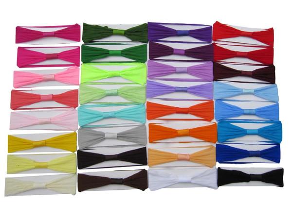 120pc lot 2 5 039 039 pantyho e nylon headband baby headband infant hair band 32color for your choice hipping