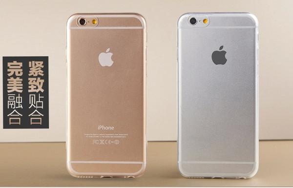 6 / 6s супер гибкий прозрачный чехол TPU для Iphone 6 6 S тонкий Кристалл обратно защиты ко
