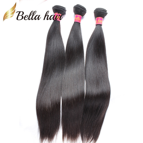 "Cheap Virgin Hair Bundles 8""-30"" Indian Human Straight Weaves Double Weft Natural Hair Extensions Bellahair Free Shipping 8A"