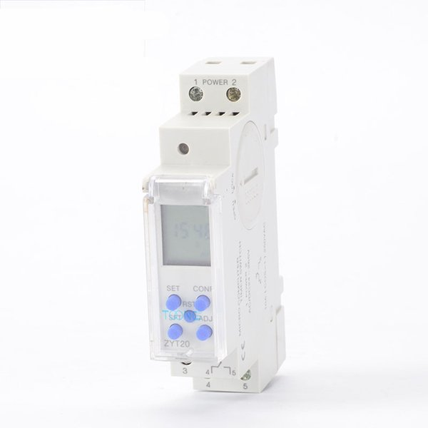 Freeshipping Micro Computer Din Rail Timer Digital Timer switch 250VAC 10A Time Switch