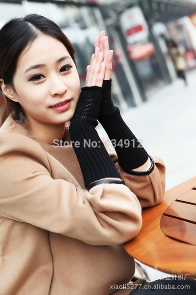 Wholesale-free shipping Ms decoration long gloves Wool knitting hollow-out decorative pattern Drive to decorate#30335