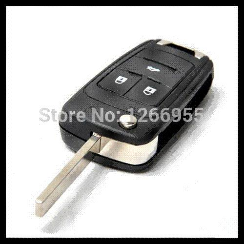 Free shipping for 3button blank flip folding remote key shell for Chevrolet Cruze with the best price 0901239 car