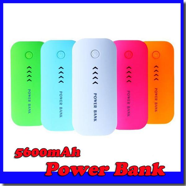 Wholesale-Power Bank 5600mAh Portable powerbank Batterie externe alimentation chargeur mobile pour téléphone mobile iphone 6 samsung