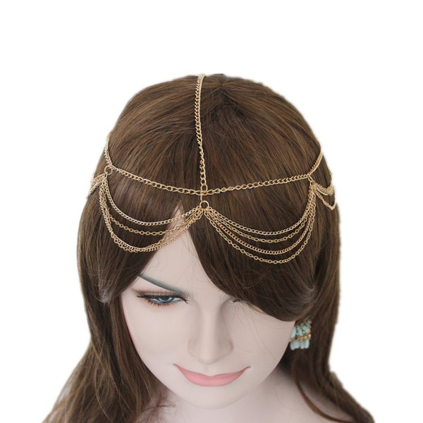 Layered Gold Chain Hairband Head Chain Hair Accessories Jewelry CF155