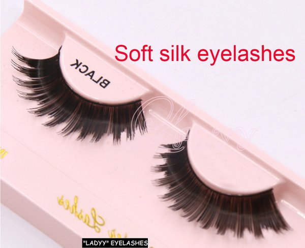 Many styles Faux human Pure Handmade Natural Long False Eyelashes Soft Fake Eye Lashes