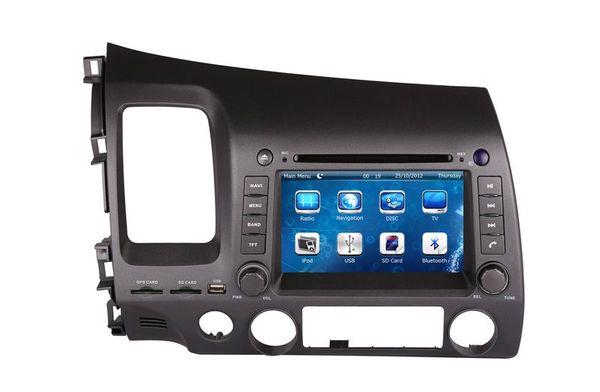 2-Din Car DVD Player for Honda Civic Left Driving 2006-2011 with GPS Navigation Radio Bluetooth Radio TV USB AUX SD Audio Strereo