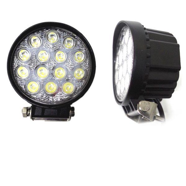 20pcs 6000k LED Work Light High Power 42W LED Flood Light Round Off road Lighting 12V/24V Fishing Airboat ATV Quad Worklights