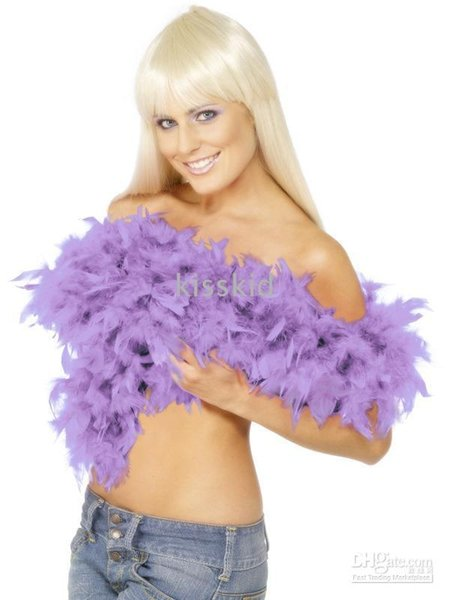 10 Pcs Purple Feather Boa Party Dress Accessory 2M Length Party Supplies Home Decoration Free shipping