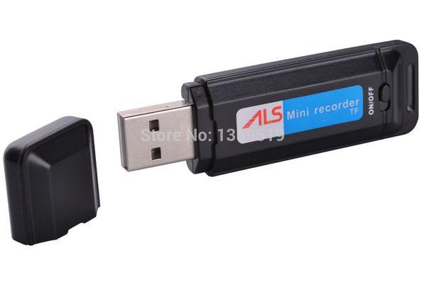 top popular U Disk Digital Voice Recorder Pen SK1 USB Flash Drive Dictaphone Audio Recorder support TF Card Slot black & white 100pcs lot 2020