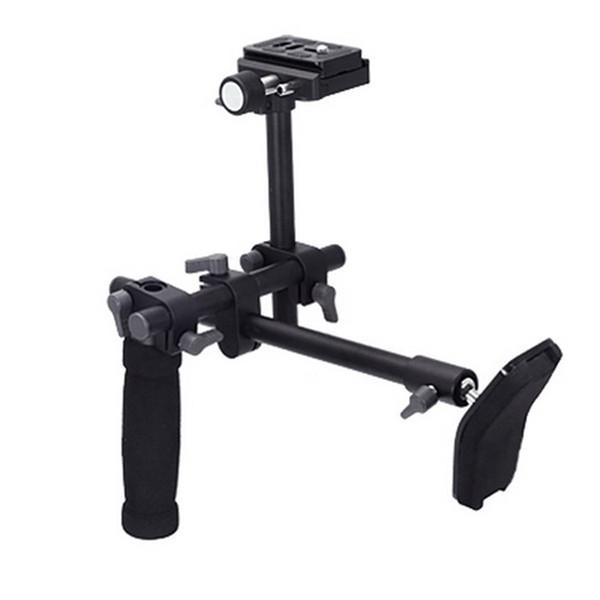 DSLR video camcorder handle shoulder support stabilizer rig quick release plate for Digital video Camera DVD.
