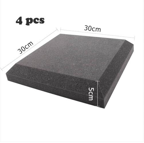 best selling Acoustic Foam Curved shape Sound proof Foam in Charcoal color for 4 PCS 30*30CM