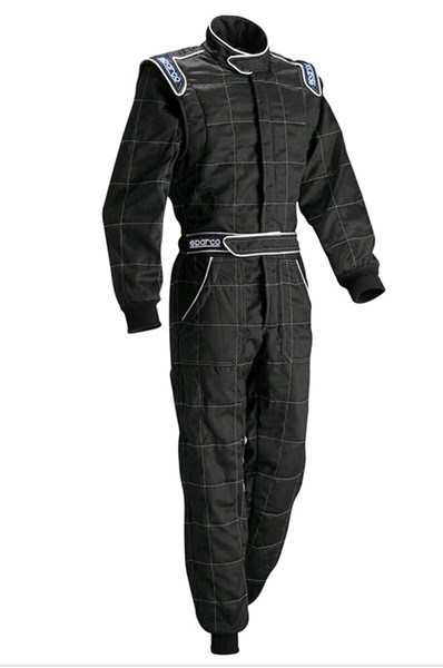 Motorcycle car racing suit coverall jacket pants set fit men and women black blue red polyester not fireproof