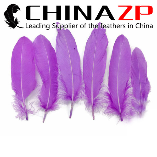 Leading Supplier CHINAZP Crafts Factory 10~15cm(4~6inch) Selected Top Quality Dyed Lavender Loose Goose Feathers for Carnival Decoration