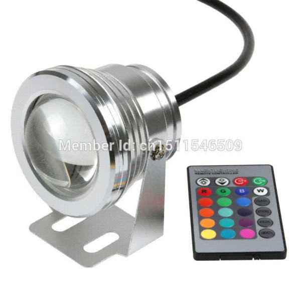 Waterproof IP68 10W 12V underwater RGB Warm Cool White Led Lights