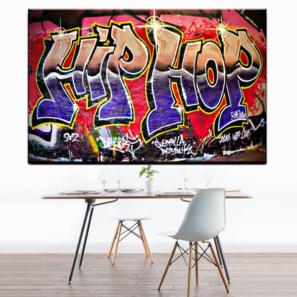 1 Pcs Graffiti Street Art Hip Hop Paintings On Canvas Modern Wall Pictures For Living Room Home Decor No Frame Oil Painting