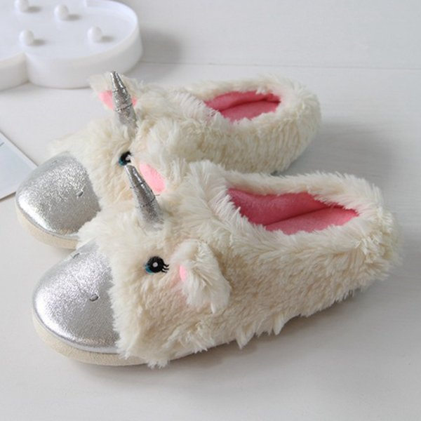 Magical Unicorn Slippers for Toddlers Plush Unicornio Casual Floor Shoes Christmas Gift Unicorn Shoes for Children Home Wear