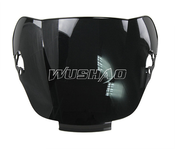 Motorcycle Double Bubble Windshield WindScreen For 1991-1994 Honda CBR600 F2 1992 1993 91 92 93 94 Black