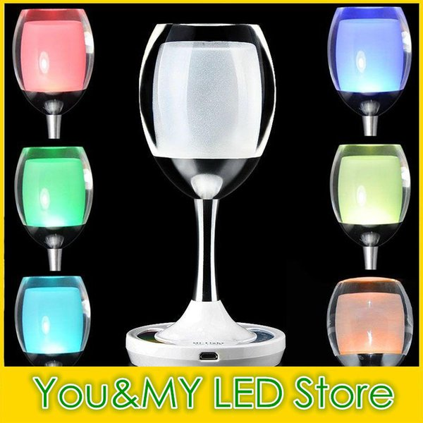 Fashion 2.4G Mi.light Wireless Group LED Lamp USB Cycle Charge RGBW Magic Crystal Glass Win Light Decorating Bar Desk for Party