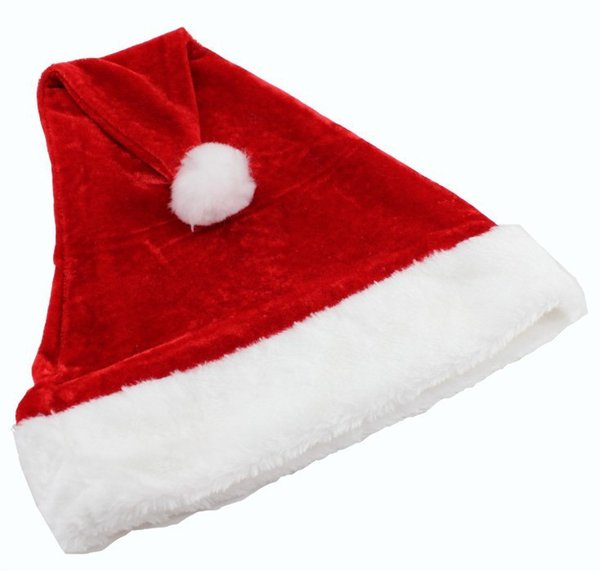 Hot! Father Christmas Hat Xmas Party Costume Santa Claus Adult Headgear Plush Cap Red TY1636