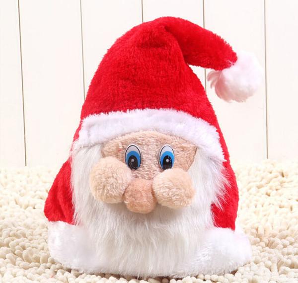 Frete grátis! Papai Noel Papai Noel máscara cap requintado rosto boné de natal chapéus atacado TY1627