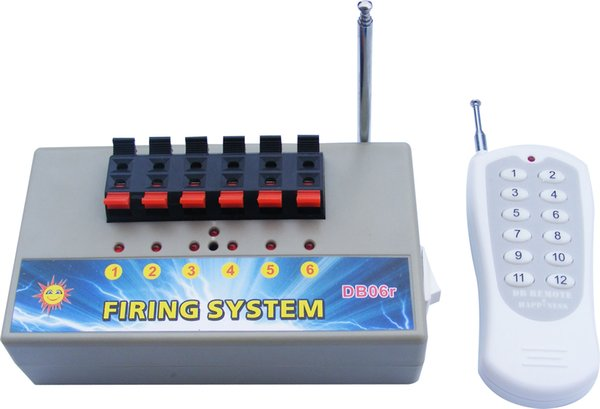 Free shipping 6 channels Wireless Remote Control Fireworks Firing System(DB06r)
