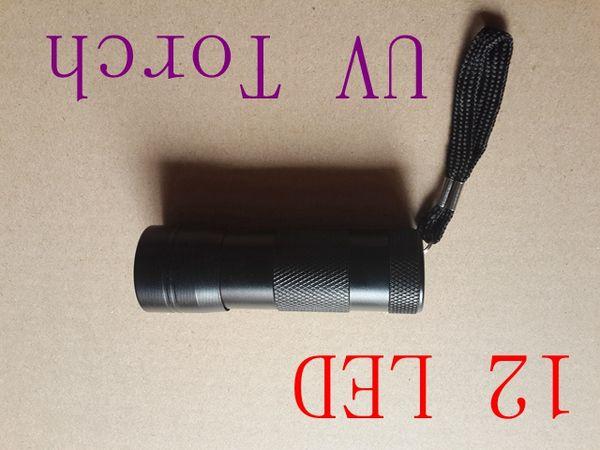 best selling Free Shipping Hot sale! 12 LED UV Flashlight Ultra Violet Camp Lamp Torch Anti-fake UV Flash Light,100pcs lot
