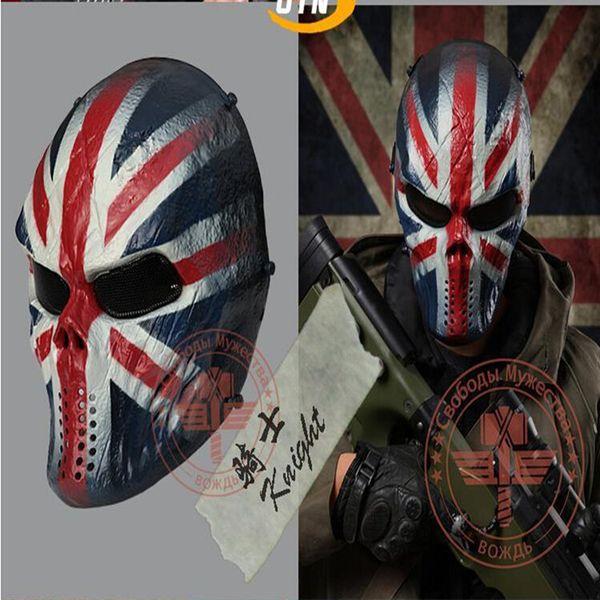 Free shipping Zombie Skull Bone Full Face Mask for Survival War Game Movie Prop Jokes Mask Walking Dead Cosplay Halloween Mask