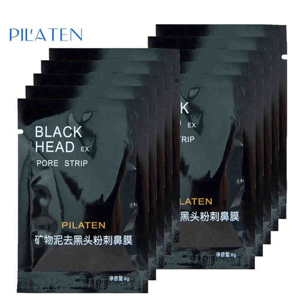 best selling 2015 New PILATEN Facial Minerals Conk Nose Blackhead Remover Mask Pore Cleanser Nose Black Head EX Pore Strip Free shipping A-0200