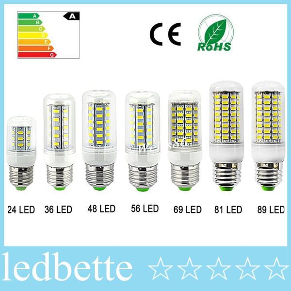 E27 a mené des lampes 5730 220V 5W 9W 12W 15W 20W 25W 30W LED allume le maïs a mené l'ampoule lustre de Noël bougie allumant des lumières de LED