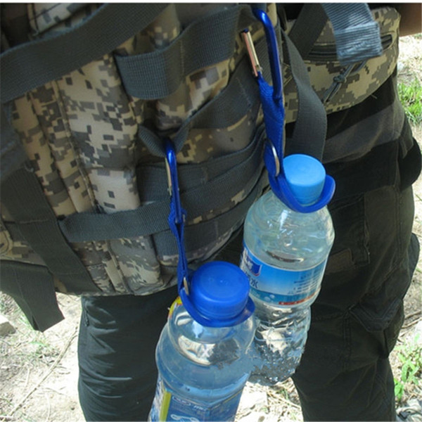 Carabiner Water Bottle Holder Clip Camping Hiking Outdoor