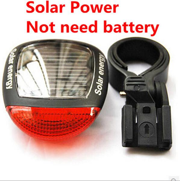 Solar Power DEL Vélo Feu Arrière Vélo Feux Arrière Feu Arrière Clignotant Lampe Rouge